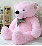#9: SOFT TEDDY BEAR COLOR LIGHT PINK SIZE 4 FEET