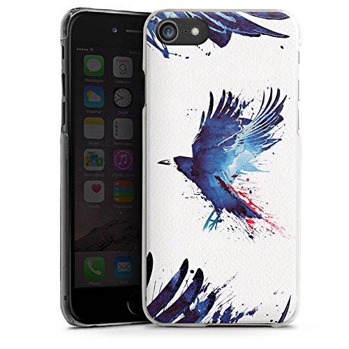 Apple iPhone X Silikon Hülle Case Schutzhülle Vogel Kunst Krähe Hard Case transparent