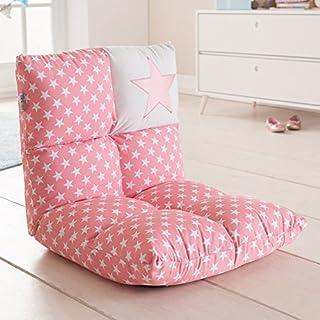 howa - 2 en 1 Fauteuil pour enfant + Canapé pour enfant - dossier réglable à 6 positions rose / blanc 8601