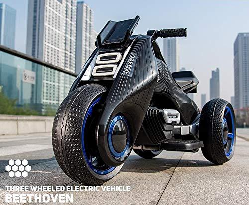 Auto Elettrica Per Bambini Può Sedersi Baby Baby Toy Car Moto Triciclo 3-10 Anni Boy Car Passeggino Lucido Bianco PLUS Black