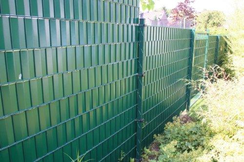 Sichtschutz SIGMA für Doppelstabmatten 26 lfdm in moosgrün,