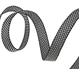 Perlin C176-10 m STOFFBAND Ripsband WEBBAND Borte 10mm NÄHEN SCHWARZ WEIß METERWARE WEBBÄNDER Scrapbooking Zierband Besatzband Stoffband Webbänder Schmuckband