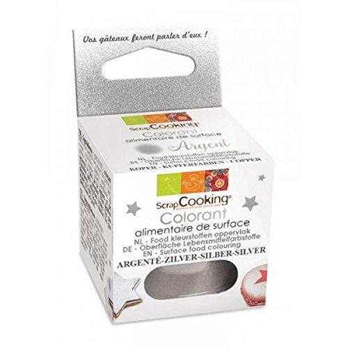 Scrapcooking colore alimentare in polvere 5 g - argento