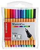 Fineliner - STABILO point 88 Mini - Astuccio da 12 - Colori assortiti