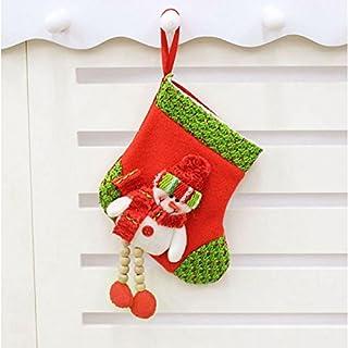 Kicode Stocking Stoff Kleine Größe Weihnachten Weihnachtsgeschenk Geschenk Geschenk-Taschen Zubehör
