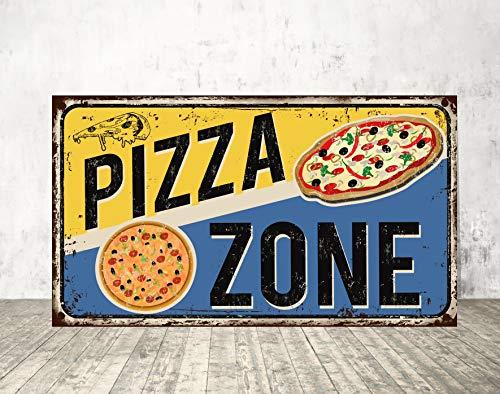 Dozili Cartel de Pizza para Restaurante, Estilo Vintage, con Texto en inglés