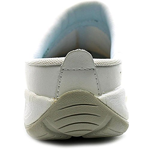 Easy Spirit EZ Time étroit Cuir Chaussure de Marche White Mult