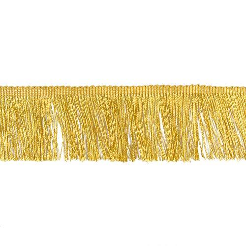 Fransen Fransenborte 5 cm breit gold Borte Accessoires Karneval Dekorationen - Preis gilt für 1 m