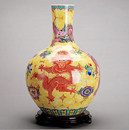 Globular Jar (All Décor Chinesische Porzellanvase, Blume, Heimdekoration, handgefertigt, handbemalt, mit Drachenmuster, 53,3 x 35,6 x 20,3 cm)