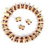 LIGHTBLUE Hellblaue Klassische Holzspielzeug personalisierte Namen Holz Alphabet Zug Buchstaben Spielzeug