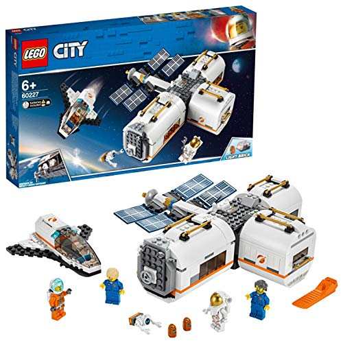 LEGO 60227 City Lunar Space Station, Spaceship Adventures Toys for Kids inspired by NASA, Mars Expedition Series Best Price and Cheapest