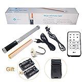 Mcoplus LE-R320 322pcs Magic Tube Light 2000LM CRI95 + Portable Handheld führte Video Zauberstab Light mit IR-4 Infrarot-Fernbedienung & 1pcs NP-F550 Akku für Fotografie & Videografie als Eis Licht