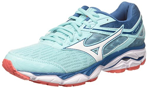Mizuno Wave Ultima 9 WOS, Scarpe da Running Donna, Turchese (Aquasplash/White/Bluesapphire), 37 EU