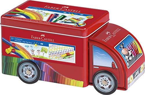 Faber Castell Box (Faber-Castell 155533 - Connector Pen Truck mit 33 Filzstiften)