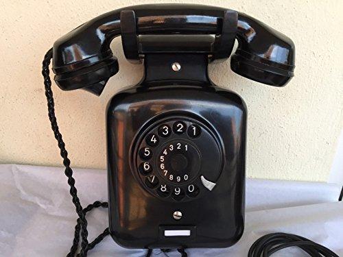 Bakelit Wand (Antik Wand Telefon Siemens schwarz Bakelit)