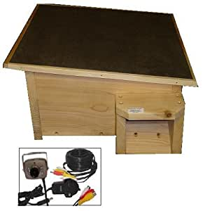 igelhaus mit kamera kit igel nest house box hog zedernholz garten. Black Bedroom Furniture Sets. Home Design Ideas