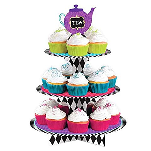 Mad Hatters Tea Party Treat Cake Stand Alice in Wonderland Birthday Hen Party Dinner Lunch Event Accessory