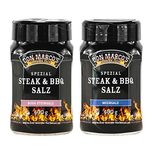 DON MARCO\'S BARBECUE KS0198 Don Marco´s Spezial Steak & BBQ Salz Set: Rosa Steinsalz & Meersalz