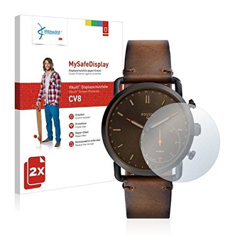 2x Vikuiti MySafeBildschirm CV8 Bildschirmschutz Schutzfolie für Fossil Q Commuter (Ultraklar, strak haftend, versiegelt Kratzer)