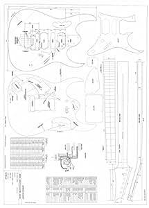 set of 4 electric guitar plans fender hss strat gibson explorer Gibson 498T Wiring-Diagram guitars gear electric guitars