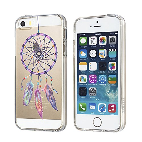 Coque iPhone SE/5s/5 TPU Etui Protection Transparent TPU Ours et panda Silicone Ultra Slim Protective Case Cover Housse pour iPhone 6/6s y iPhone 6 plus / 6s plus Qissy® G