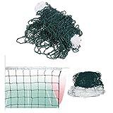 Red de voleibol estándar reglamentaria, medidas oficiales, color verde oscuro