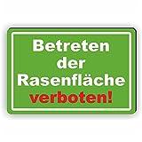 Betreten der Rasenfläsche verboten! - SCHILD / D-036 (30x20cm Schild)