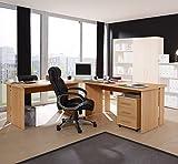 4-teilige Büro-Winkelkombination in Buche Dekor