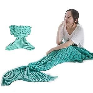 meerjungfrau decke k max handgemachte mermaid schwanz stil blanket sofa schlafdecke. Black Bedroom Furniture Sets. Home Design Ideas