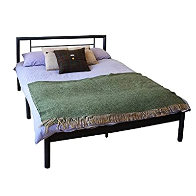 Harbour Housewares Double Metal Bed Frame In Black - inexpensive UK light shop.