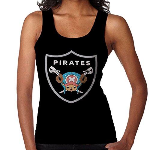 Tony Tony Chopper Pirates Raiders Logo One Piece Womens Vest Black