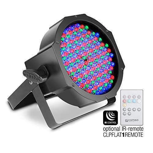 Cameo Light CLPFLAT1RGB10IR Flat LED RGB PAR Scheinwerfer Spot in schwarzem Gehäuse 144 x 10 mm - Led Rgb Flat