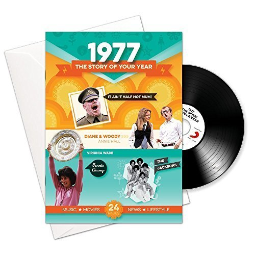 1977 Birthday or Anniversary Gifts - 1977 4-In-1 Card and Gift - Story of Your Year , CD , Music Download
