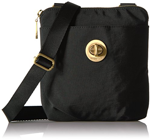 Baggallini Damen Umhängetasche, Handtasche, schwarz, Einheitsgröße -