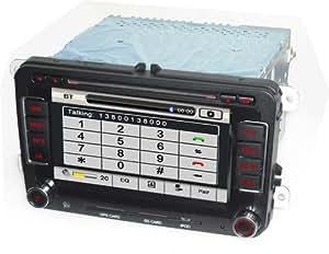 Autoradio HD GPS DIVX DVD MP3 USB SD TV RDS Bluetooth IPOD avec CAN BUS pour Seat Altea Leon Exeo avec fonction TMC