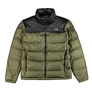 North Face Nuptse 2 Down Jacket Small TNF Black New Taupe Green