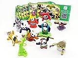Kinder Überraschung, Satz Kung Fu Panda 3 mit Allen 10 Figuren und Beipackzetteln
