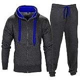 Vêtements de sport pour enfants avec chandail à capuchon et sweatpants (13-14 Years, Bleu charbon)