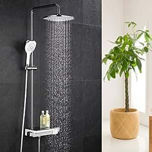 ubeegol duschsystem thermostat duscharmatur regendusche. Black Bedroom Furniture Sets. Home Design Ideas