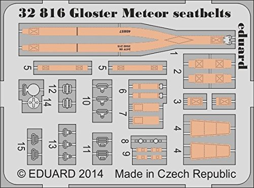 Eduard Photoetch 1:32 - Gloster Meteor seatbelts (HK Models)