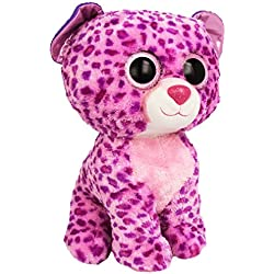 Ty - Glamour, peluche leopardo, 40 cm, color lila (36811TY)