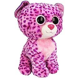 Ty - Glamour, peluche leopardo, 40 cm, color lila (36811TY)