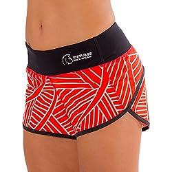 Titan Box Wear Primal Rw Pantalón Corto, Mujer, Rojo/Blanco/Negro, S