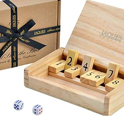 Jaques of London Voyage Shut The Box - Format de Poche - Jeux de dés Travel 9 numéros - Depuis 1795