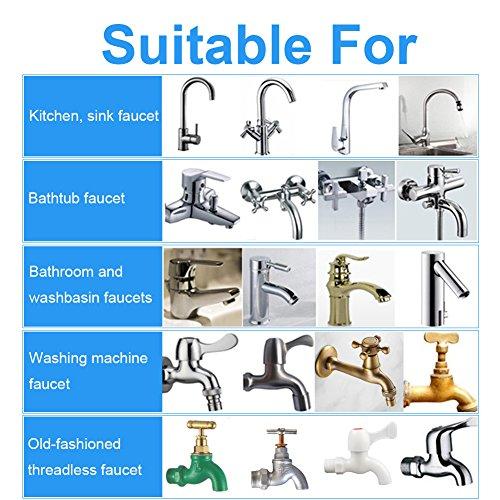 Wasserhahn Wasserfilter, EgoEra® 8 Schicht Leitungswasser Filter / Wasseraufbereiter Trinkwasser / Wasserfilter Wasserreiniger für die Küche mit Keramischen Filterpatrone - 6