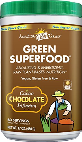 Amazing Grass Chocolate Drink Powder, Green Superfood, 17-Ounce