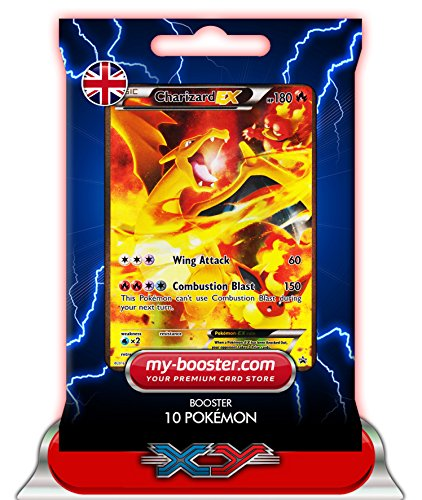 CHARIZARD EX Full Art (Dracaufeu) XY121 180HP XY09 - Booster de 10 cartes Pokemon anglaises my-booster