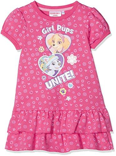 Nickelodeon paw patrol girls pup unit, vestito bambina, rosa (fushia 18-2436tc), 2-3 años