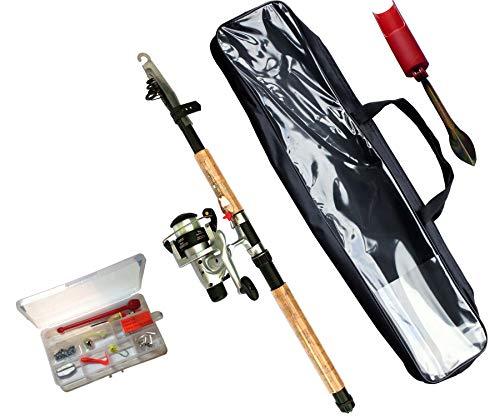 Allgear Fishing Einsteiger Angelset mit Angelrute, Angelrolle, Tasche, Zubehör und Rutenhalter