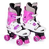 Osprey Kid\'s Quad Skates Adjustable Roller Skates, Pink, Size 13-3